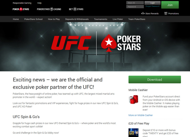 Pokerstars Partner UFC